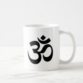 Minimal Black & White Om Symbol Coffee Mug