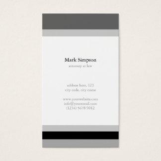 Minimal Black white stripes elegant masculine card