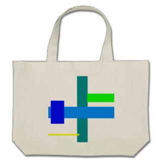 Minimal Blue Station Canvas Bags