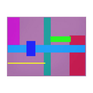 Minimal Blue Station Gallery Wrapped Canvas