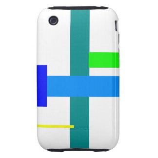 Minimal Blue Station iPhone 3 Tough Cases