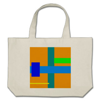 Minimal Blue Station Orange Peel Tote Bag