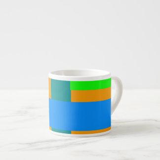 Minimal Blue Station Orange Peel Espresso Mug
