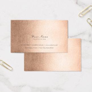 Minimal  Blush Copper Pink Gold Delicate Script Business Card