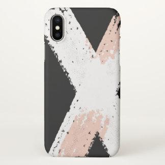Minimal brush abstract iPhone X case Matte finish
