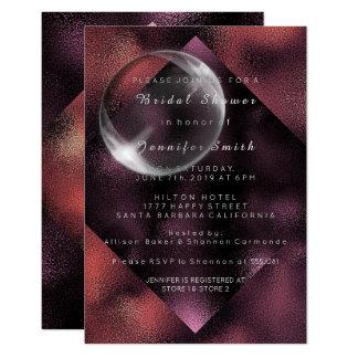 Minimal Burgundy Caffe Noir Bridesmaid Shower 9 Cm X 13 Cm Invitation Card