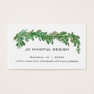 Minimal Business Card Greenery Theme