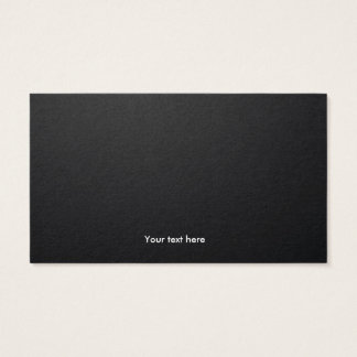 Minimal Business Card with Black BG and Cyan