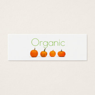 Minimal card for organic produce.