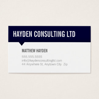 MINIMAL CARD simple modern bold navy blue grey