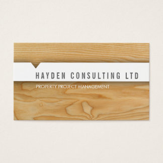 MINIMAL CARD simple modern natural wood look