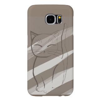 Minimal Cat Samsung Galaxy S6 Case