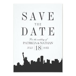Minimal Classic New York Wedding Save the Date Card