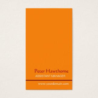 Minimal Classy  Vertical Design Business Card