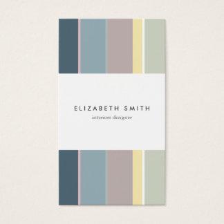 Minimal Colorful stripes modern elegant chic card