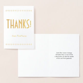 "Minimal, Custom and Basic ""THANKS!"" Card"