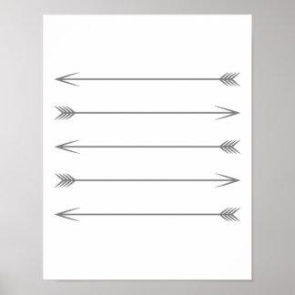 Minimal Dark Grey Arrows Poster