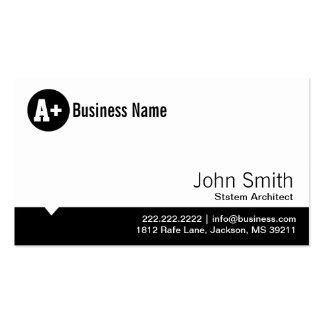 Minimal Dot System Architect Business Card