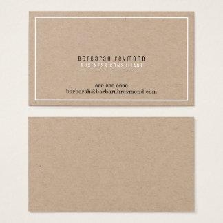 minimal elegant design introduction contact business card