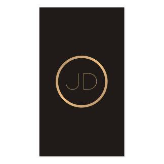 Minimal Elegant Grey Faux Gold Monogram Attorney Pack Of Standard Business Cards
