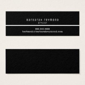 minimal elegant stylist introduction contact mini business card