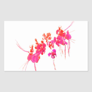 Minimal Floral Print Rectangular Sticker