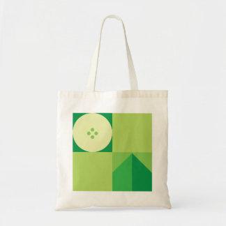 Minimal Food Pattern Tote Bag