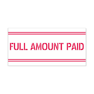 """Minimal """"FULL AMOUNT PAID"""" Rubber Stamp"""