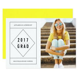 Minimal Geo Graduation Photo Announcement
