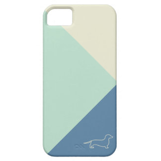 minimal geometric dachshund iPhone 5 case