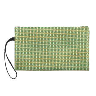 "Minimal Geometric Pattern - Japan ""Green Pastures"" Wristlet Purses"
