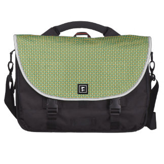 """Minimal Geometric Pattern - Japan """"Green Pastures"""" Bag For Laptop"""