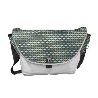 "Minimal Geometric Pattern - Japan ""Hazy Sunshine"" Courier Bags"
