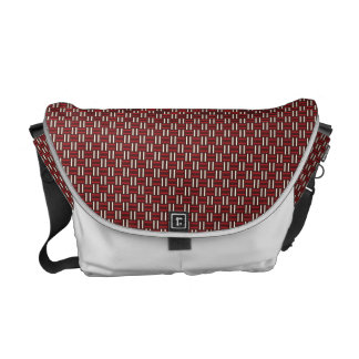 "Minimal Geometric Pattern - Osaka ""Green Pastures"" Courier Bags"