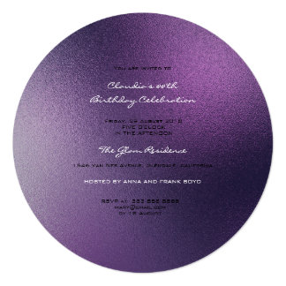 Minimal Glass Ombre Noir Amethyst Purple Frosted Card