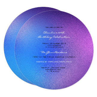 Minimal Glass Ombre  Pink Amethyst Purple Blue Card
