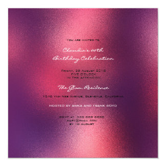 Minimal Glass Ombre Red Wine Burgundy Maroon Card