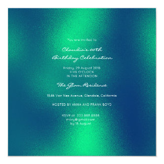 Minimal Glass Tropical Green Emerald  Contemporary Card