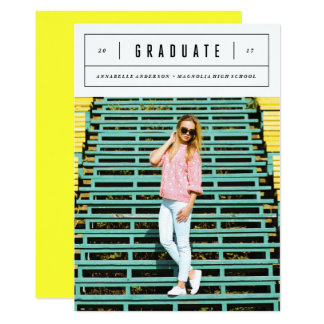 Minimal Graduation Photo Announcement