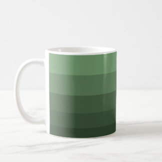 Minimal Green Basic White Mug