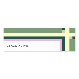 Minimal green yellow lines modern urban chic card pack of skinny business cards