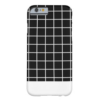 Minimal Grid B&W Barely There iPhone 6 Case
