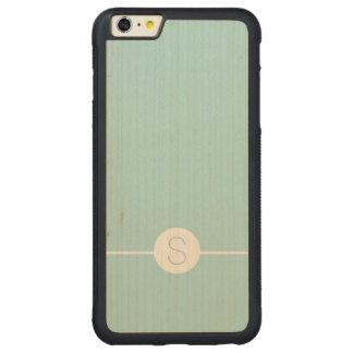 Minimal iOS 8 Style - Plain Aqua White Monogram Carved® Maple iPhone 6 Plus Bumper Case
