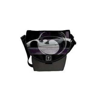 minimal lambo black Lyons design m Courier Bag