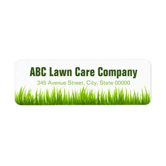 Minimal Lawn Care Landscaping Services Company Return Address Label