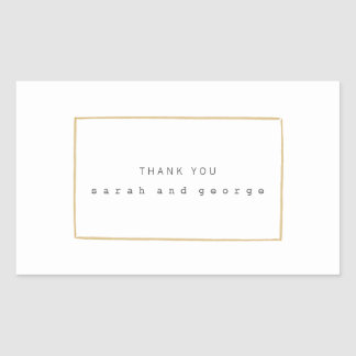 Minimal Lines Engagement Thank You Stickers