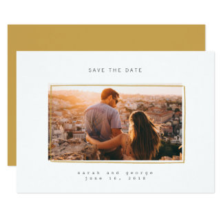 Minimal Lines Save the Date Photo Card
