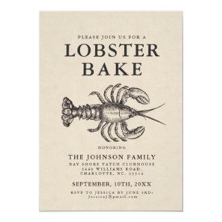 Minimal Lobster Bake Vintage Style Invite