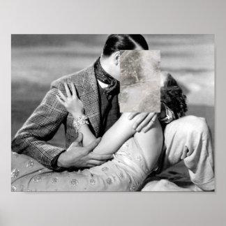 Minimal Love Kissing w/ Marble Print