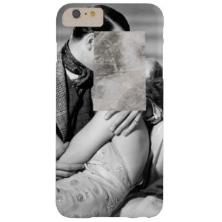 Minimal Love Kissing w/ Marble Print iPhone Case